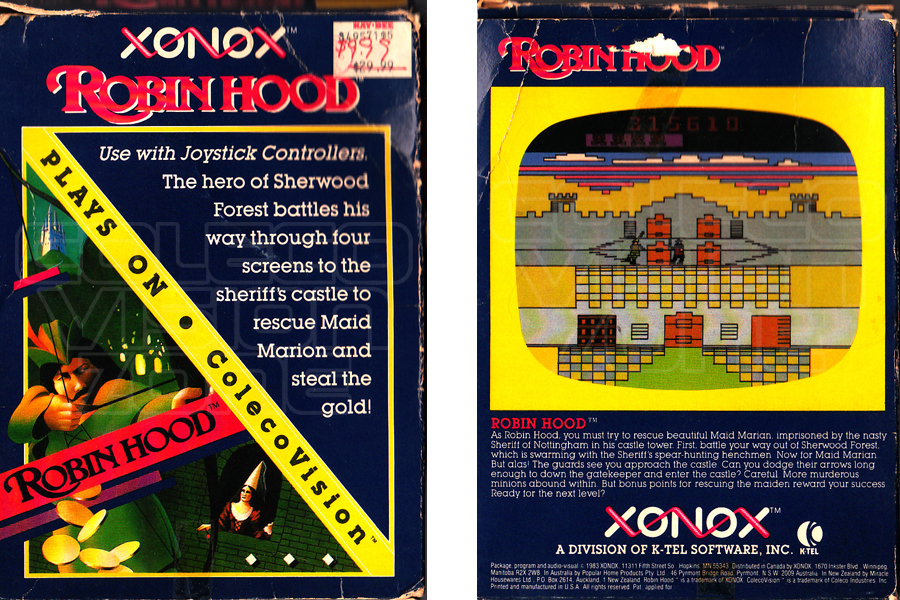 Game Of The Year >> Colecovision Zone Robin Hood
